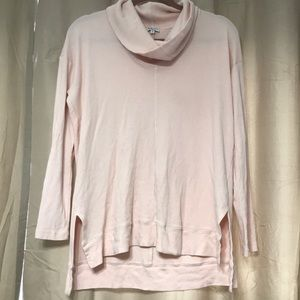 Splendid Long Sleeve Cowlneck Pink Pullover